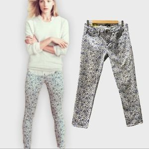 J. Crew Floral Toothpick Skinny Jeans Size 29